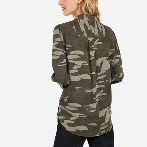 Express Camo Button-up